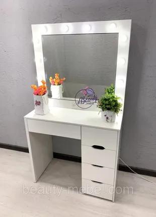 Стол для визажиста с открывающимися зеркалом. Гримерный стол.