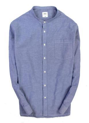 Оксфорд рубашка с воротником стойкой