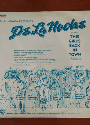 Paul Jabara - This Girl's Back In Town Винил Пластинка США