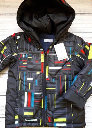 Демисезонная теплая куртка для мальчика lego двойне