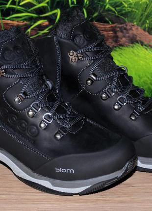 Ботинки зима кожа натуральная м24 качество ecco размеры 40 41 ...