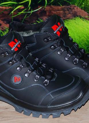 Ботинки зимоходы кожа натур м58с merrell размеры 40 41 42 43 4...