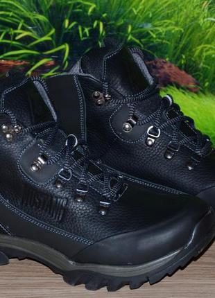 Ботинки зима кожа натуральная м24.1 качество ecco размеры 40 4...