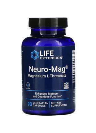 Life Extension, Neuro-Mag, магний L-треонат, 90 капсул