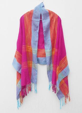 Осенний весенний  широкий шарф палантин пашмина