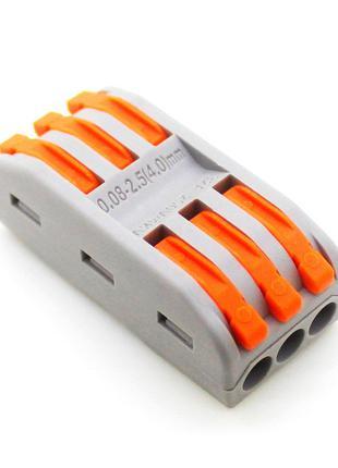 Клеммная колодка с нажимными зажимами 3-проводная SPL-3 для ра...