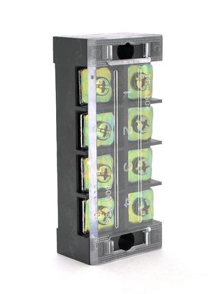 Клеммная колодка 4-разрядная TB-4504 45A/600V, сечение провода...