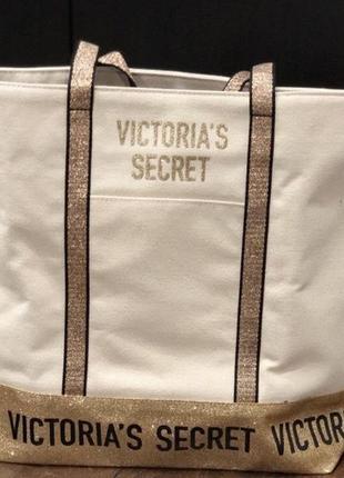 Сумка виктория сикрет золотая victoria's secret