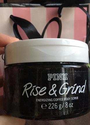 Pink victoria's secret кофейный скраб для тела