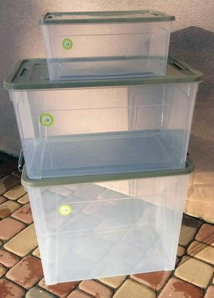 Набор Smart Box Practice 3 шт прозрачные с цветной крышкой