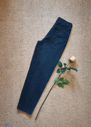 Джинсы слоучи мом высокая посадка чёрные джинсы mom бананы