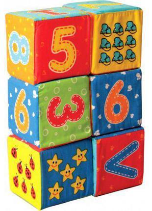 """Набор мягких кубиков """"Цифры"""""""