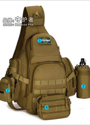 Рюкзак,сумка слинг,тактическая (НАПЛЕЧНАЯ) С ОДНОЙ ЛЯМКОЙ 125