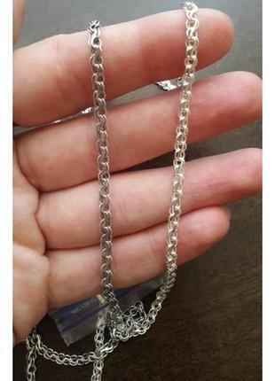 Цепочка серебряная плетения ручеек. серебро 925 пробы. ручное ...