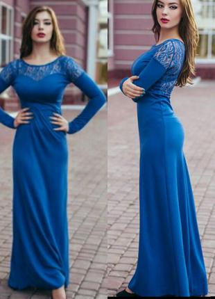 Бомбезное шикарное платье с гипюровыми вставками на спинке charm