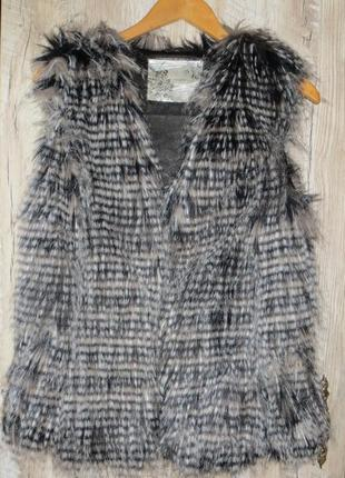 Меховая жилетка размер 12 (l) new look