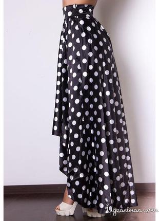 Шикарная шёлковая асимметричная юбка charm