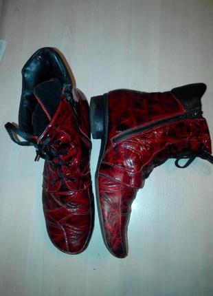 Кожаные деми ботинки на утеплители
