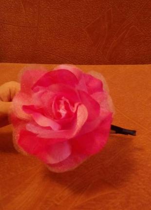Очень красивый обруч роза для волос