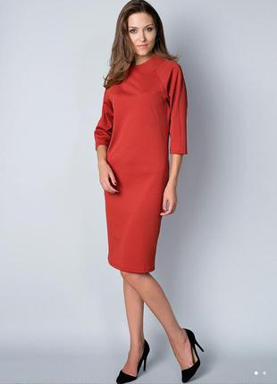 Красивое платье из фактурной ткани anastasimo терракотового цвета