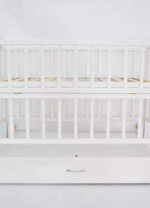 Ліжко дитяче (матеріал бук) + шухляда