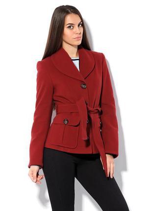 Шерстяное пальто 78% терракотового цвета  t.s.sity