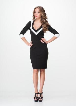 Шикарное чёрное платье enna levoni
