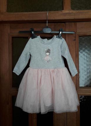 Нарядное платье принцессы для девочки на 1 год сукня 9-12 меся...