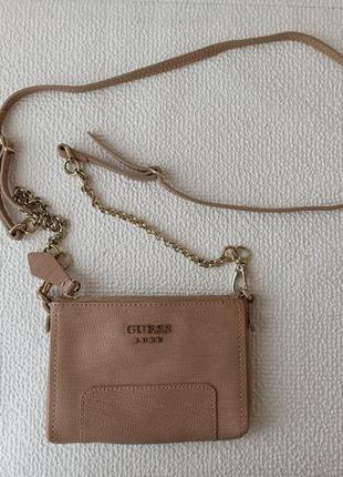Кожаная поясная сумка guess luxe bag, оригинал, состояние новой