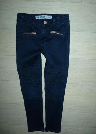 Темно-синие скинни, джинсы denim&co 6-7 лет