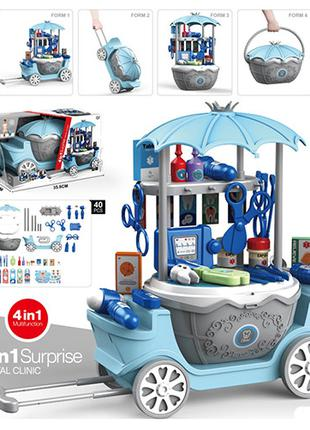 Доктор 25713 4в1(тележка,чемодан,стол,корзина), мед.инструмент...