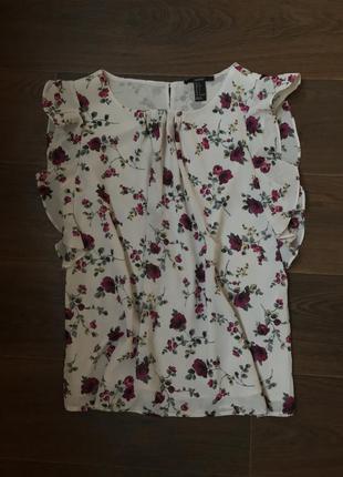 Свободная блуза в цветочный принт