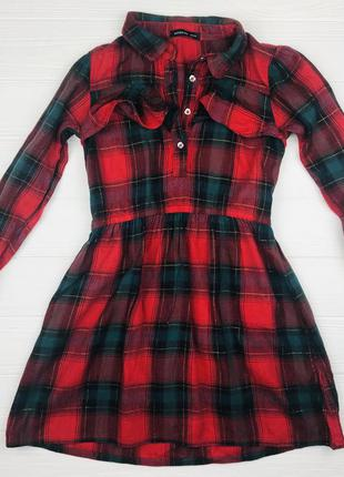 Платье в клеточку, рост 110 см