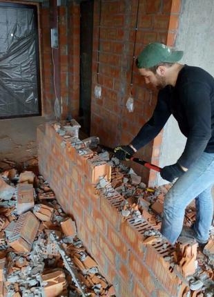 Разнорабочие. Демонтажные работы. Снос домов