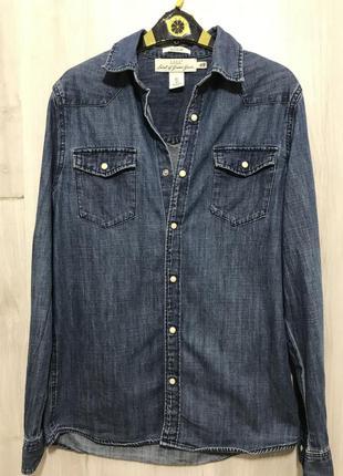 Стильная ,удлинённая джинсовая рубашка!