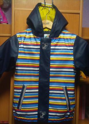 Куртка, непромокайка, внутри флис,  lupilu