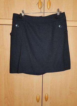Теплая мини юбка с пуговицами