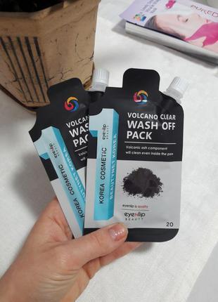 Маска для очищення шкіри eyenlip volcano clear wash off pack