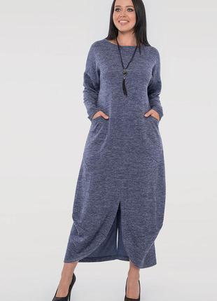 Скидки от фабрики!!теплое нарядное платье свободного кроя