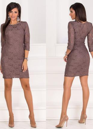 Гипюровое короткое облегающее платье, размер М