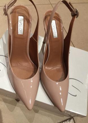 Пудровые нюдовые женские классические туфли босоножки  лодочки...