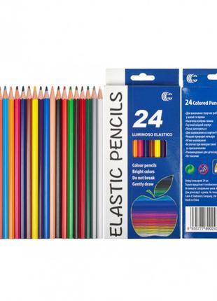 Детские карандаши для рисования CR755-24, 24 цвета