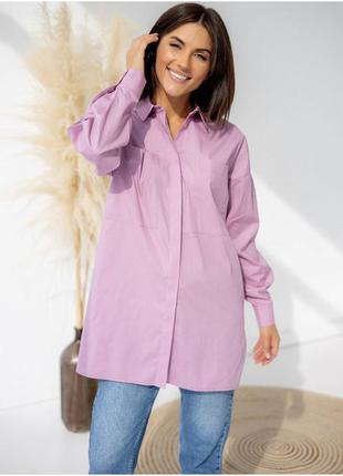 Стильная рубашка с карманами, 100% хлопок, 5 цветов на выбор -...