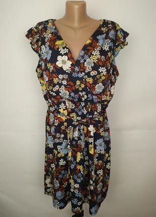 Платье легкое трендовое цветочное new look uk 16/44/xl