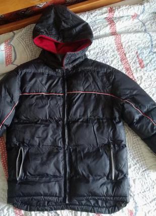 Теплая зимняя куртка на холофайбере для мальчика, р. 140-146. ...