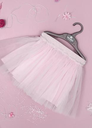 Нежно-розовая фатиновая юбка