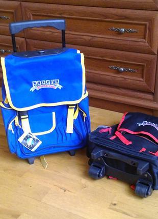Рюкзак, портфель, ранец на колесиках с выдвигающейся ручкой