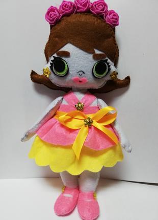 Мягкая кукла LOL из фетра ручная работа
