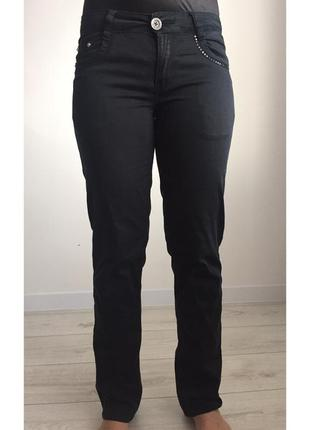 Джинси, брюки, штани, черные брюки, прямые брюки.