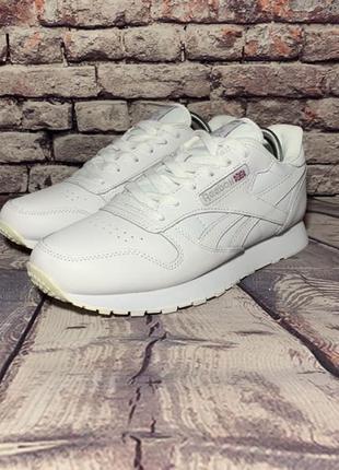 Мужские кроссовки белые Reebok Classic белые